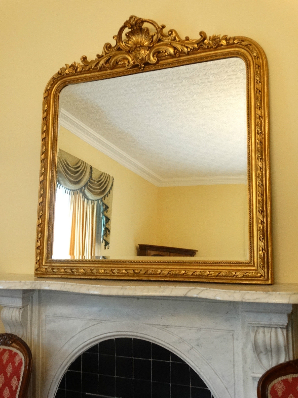 Huge New Reproduction Antique French Gold Gilt Wall Hall Mirror Inside French Mirrors Reproduction (Image 11 of 15)