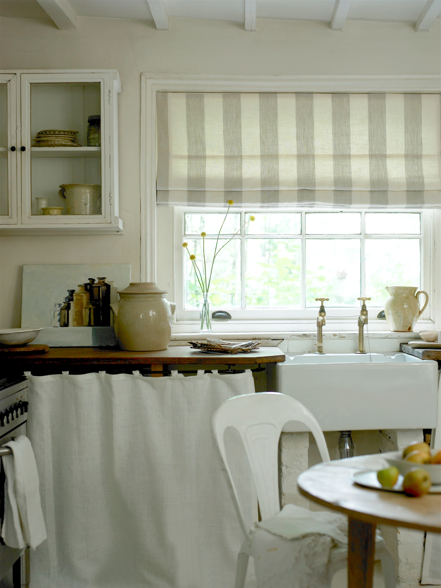 I Love This Country Kitchen Roman Blind In Broad Stripe Also With Striped Roman Blinds (Photo 6 of 15)