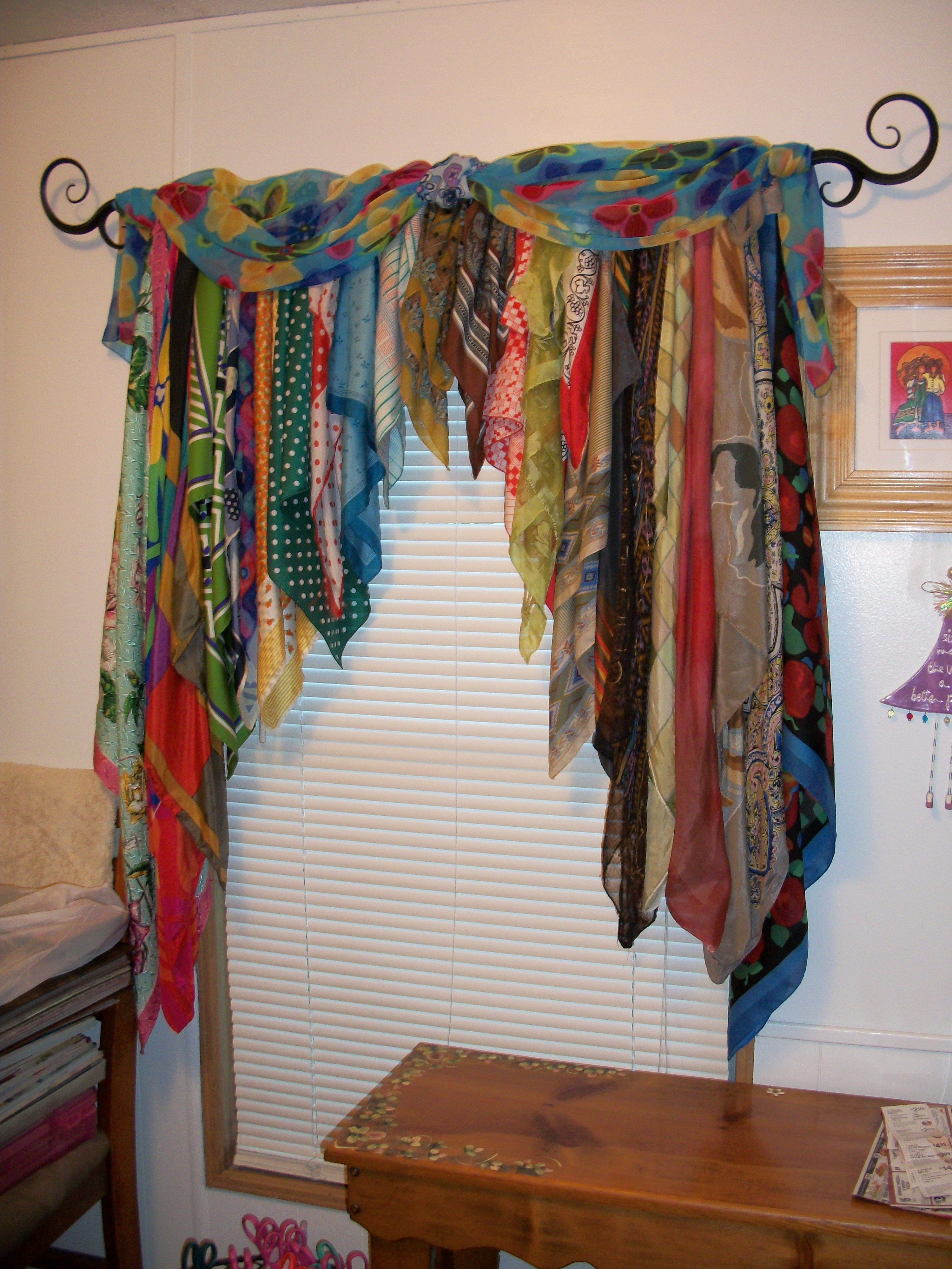 I Made These Oud Of Old Head Scarves This Idea Was Passed From For Curtain Head (Image 10 of 15)