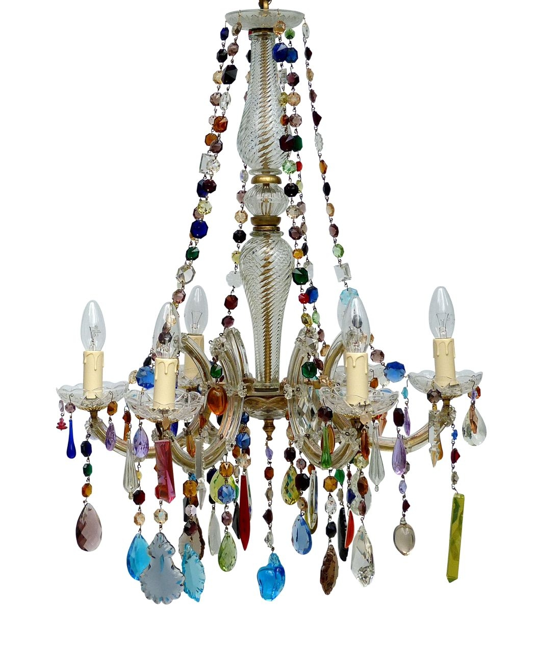 Idea Of Chandeliers Marie Therese Multi Coloured Share With Regard To Coloured Chandeliers (View 10 of 15)