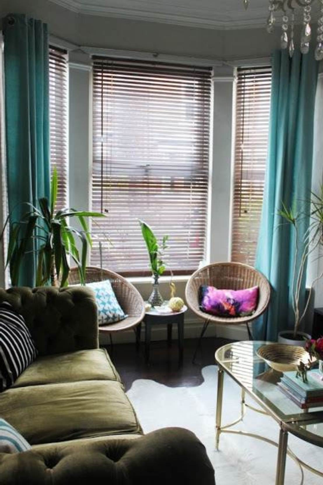 Ideas For Bay Window Decorating Home Pinterest I Am Window In Front Room Blinds (Image 9 of 15)