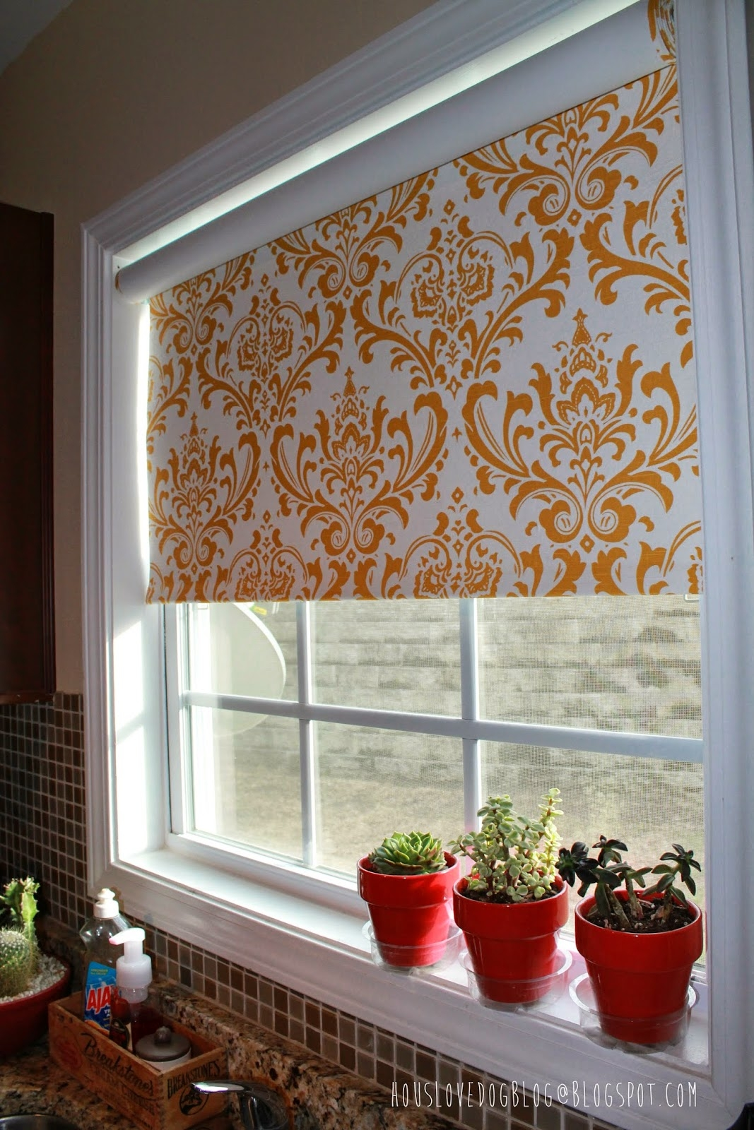 Ikea Hack Fabric Covered Tupplur Blinds Houslovedogblogblogspot Throughout Roller Fabric Blinds (Image 7 of 15)