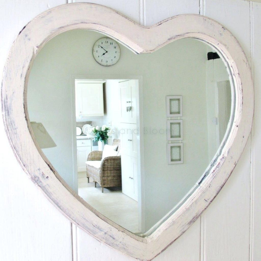 Ikea Wardrobe Mirror Heart Shaped Silver Wall Mirrors Interesting Regarding Heart Wall Mirror (Image 7 of 15)