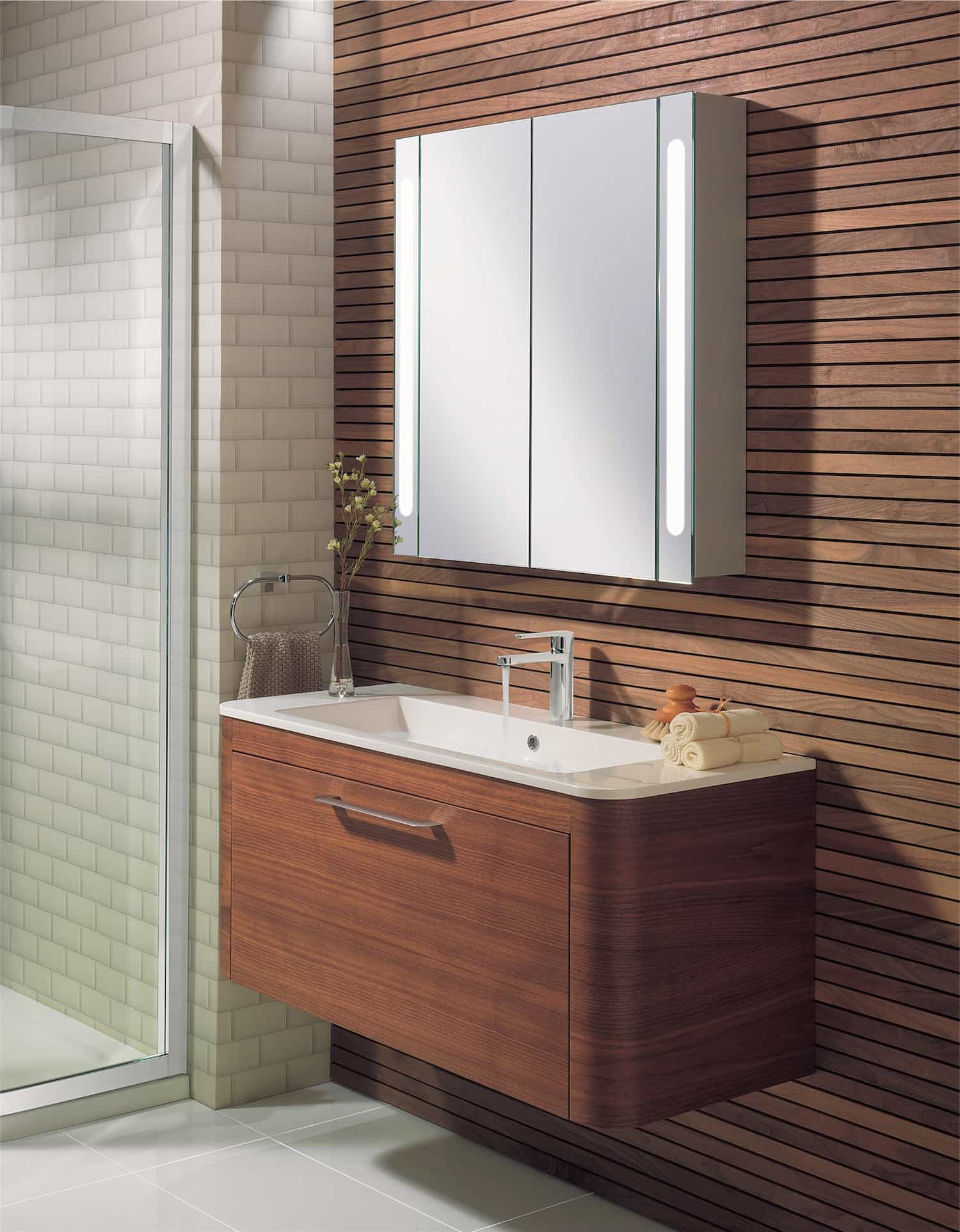 Illuminated Bathroom Mirrors With Storage Cabinet (Image 5 of 8)