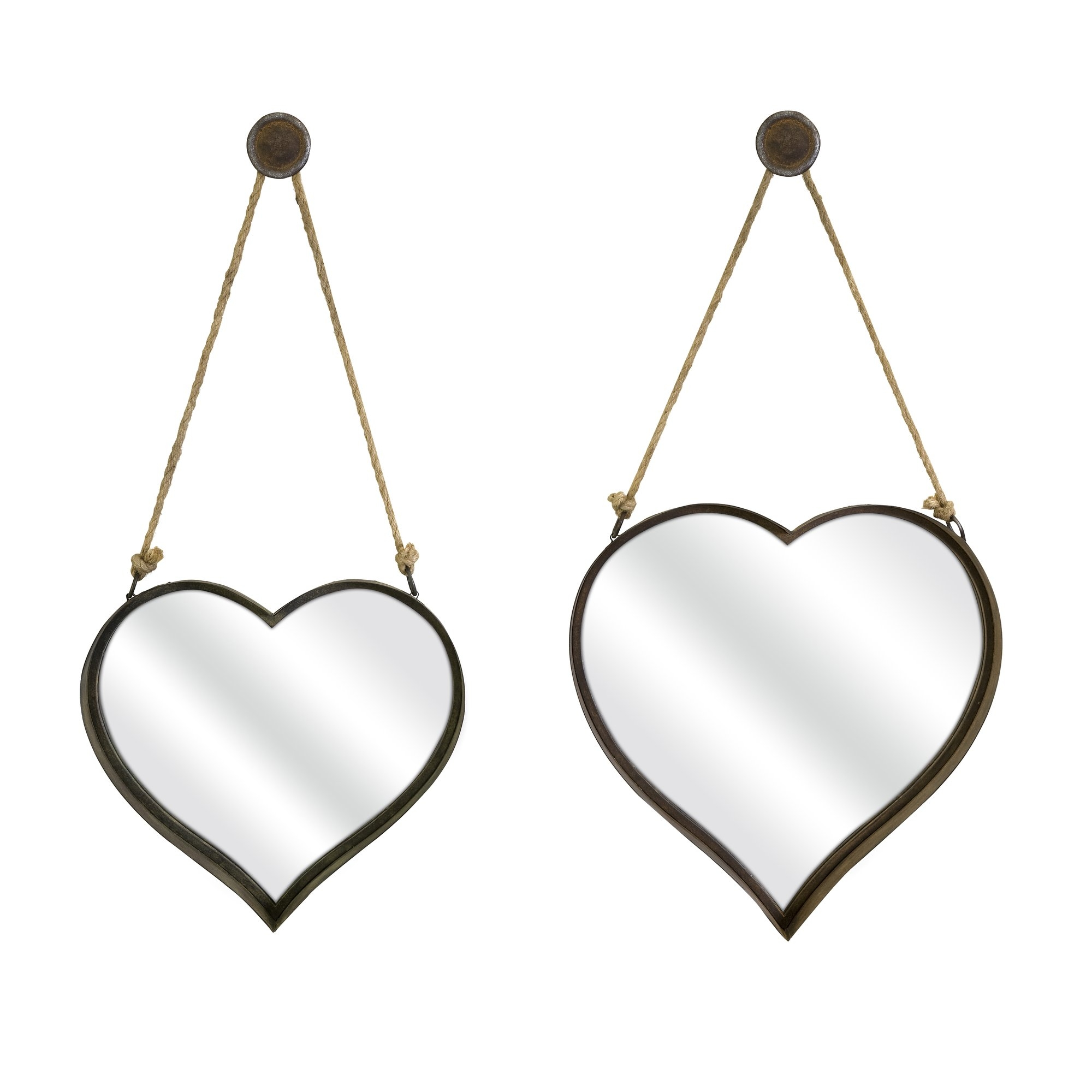 Imax 2 Piece Heart Shape Wall Mirror Reviews Wayfair Regarding Heart Wall Mirror (Image 8 of 15)