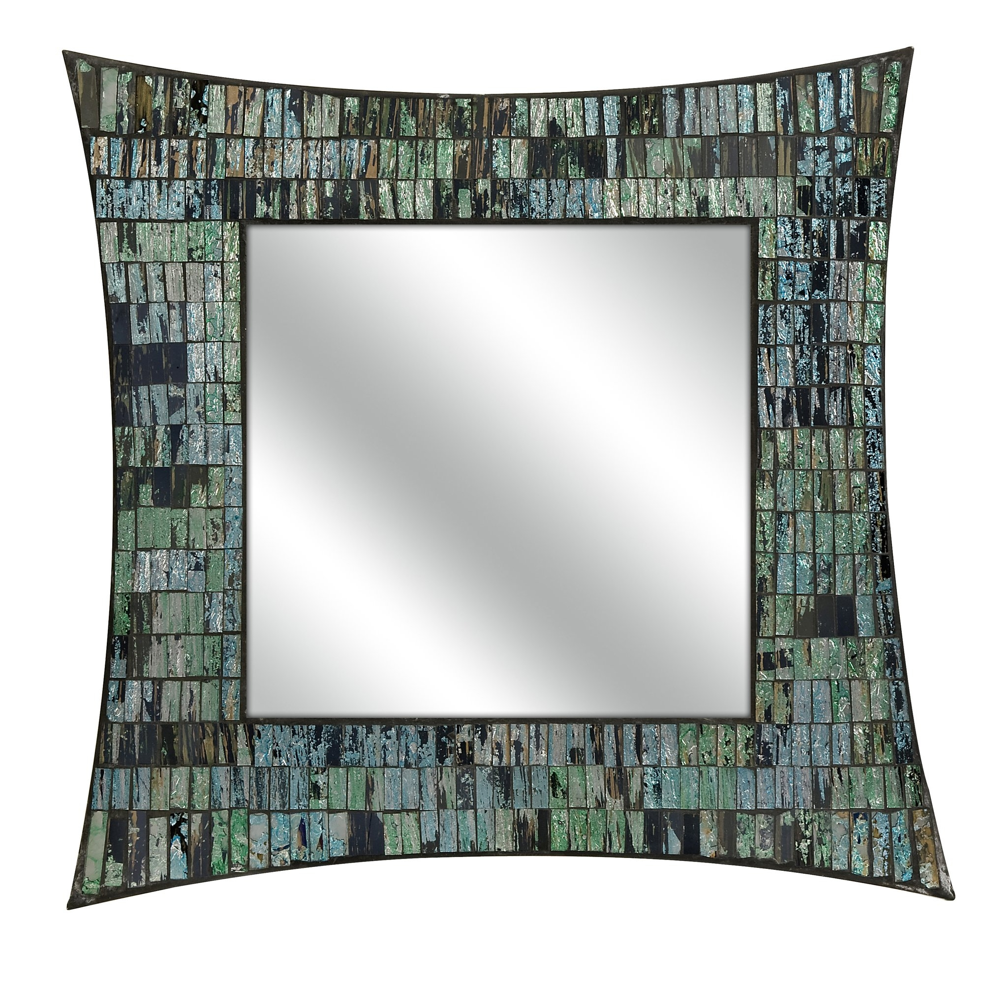 Imax Aramis Mosaic Wall Mirror Reviews Wayfair Within Mosaic Wall Mirror (View 3 of 15)
