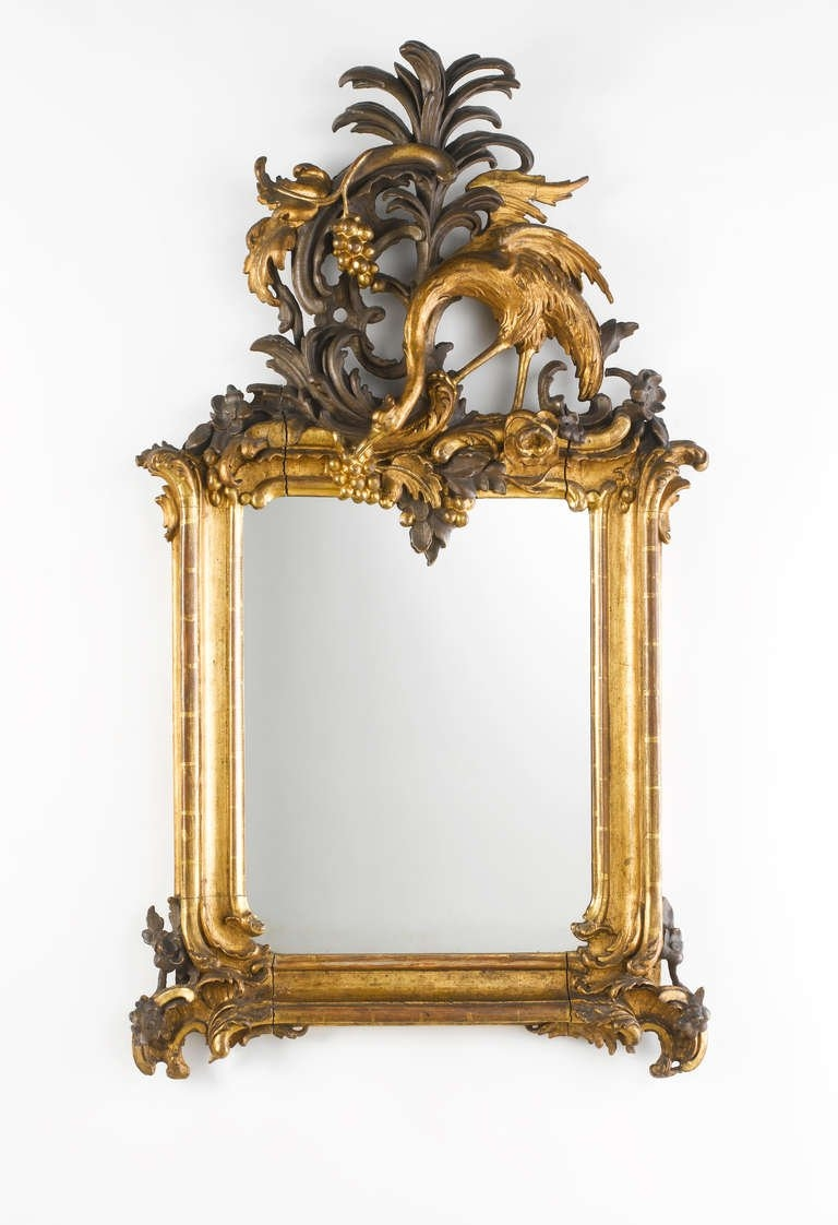 Important Royal German Rococo Mirror Circa 1745 1755 For Sale At Throughout Rococo Mirror (Image 10 of 15)