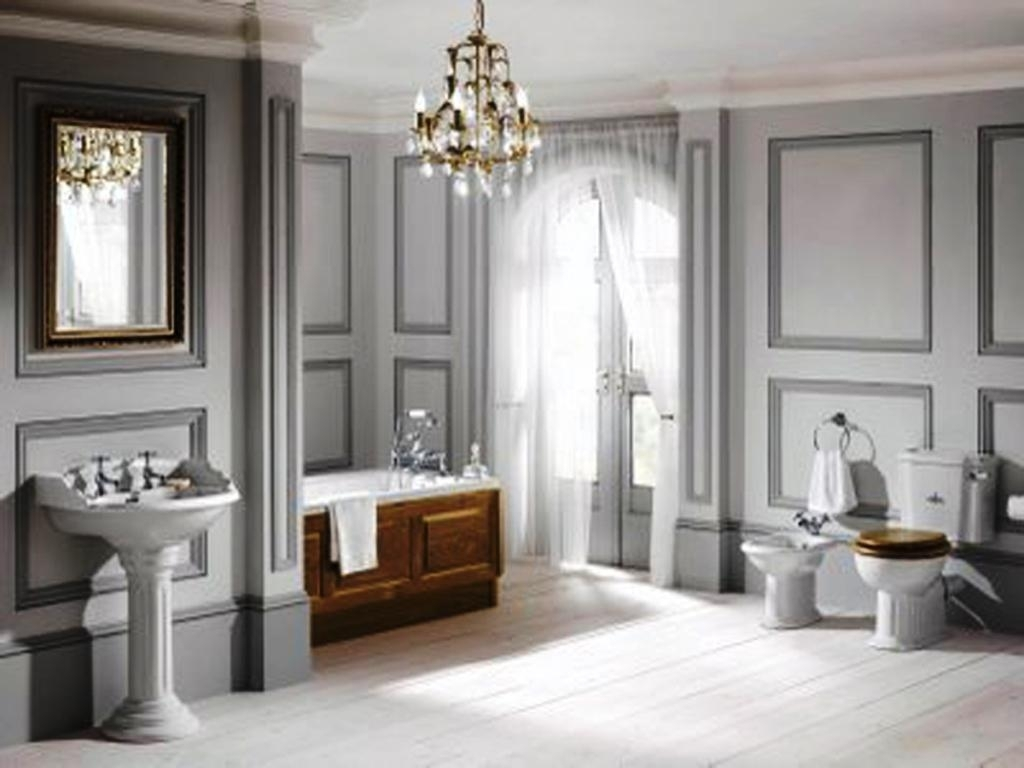 Impressive Bathroom Crystal Chandelier Lavish Modern Bathroom Regarding Modern Bathroom Chandeliers (View 11 of 15)