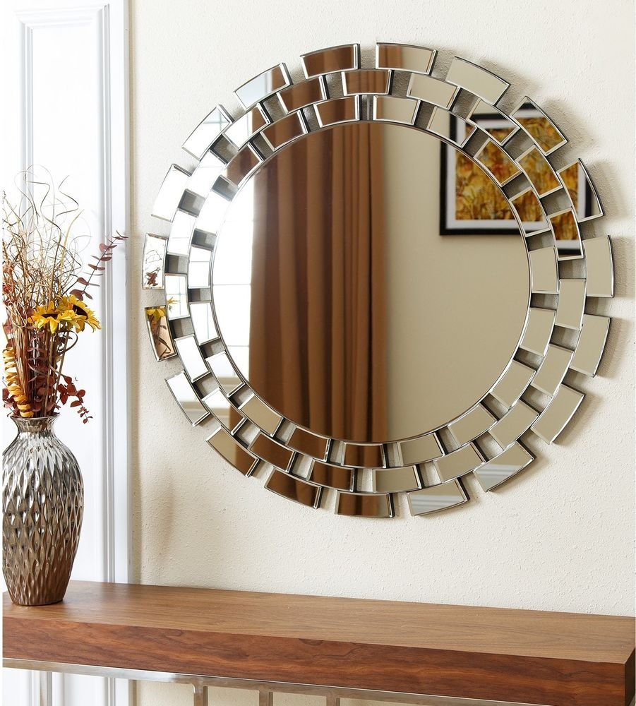 Impressive Wall Mirrors For Living Room With Oversized Design With Regard To Unusual Round Mirrors (Image 10 of 15)