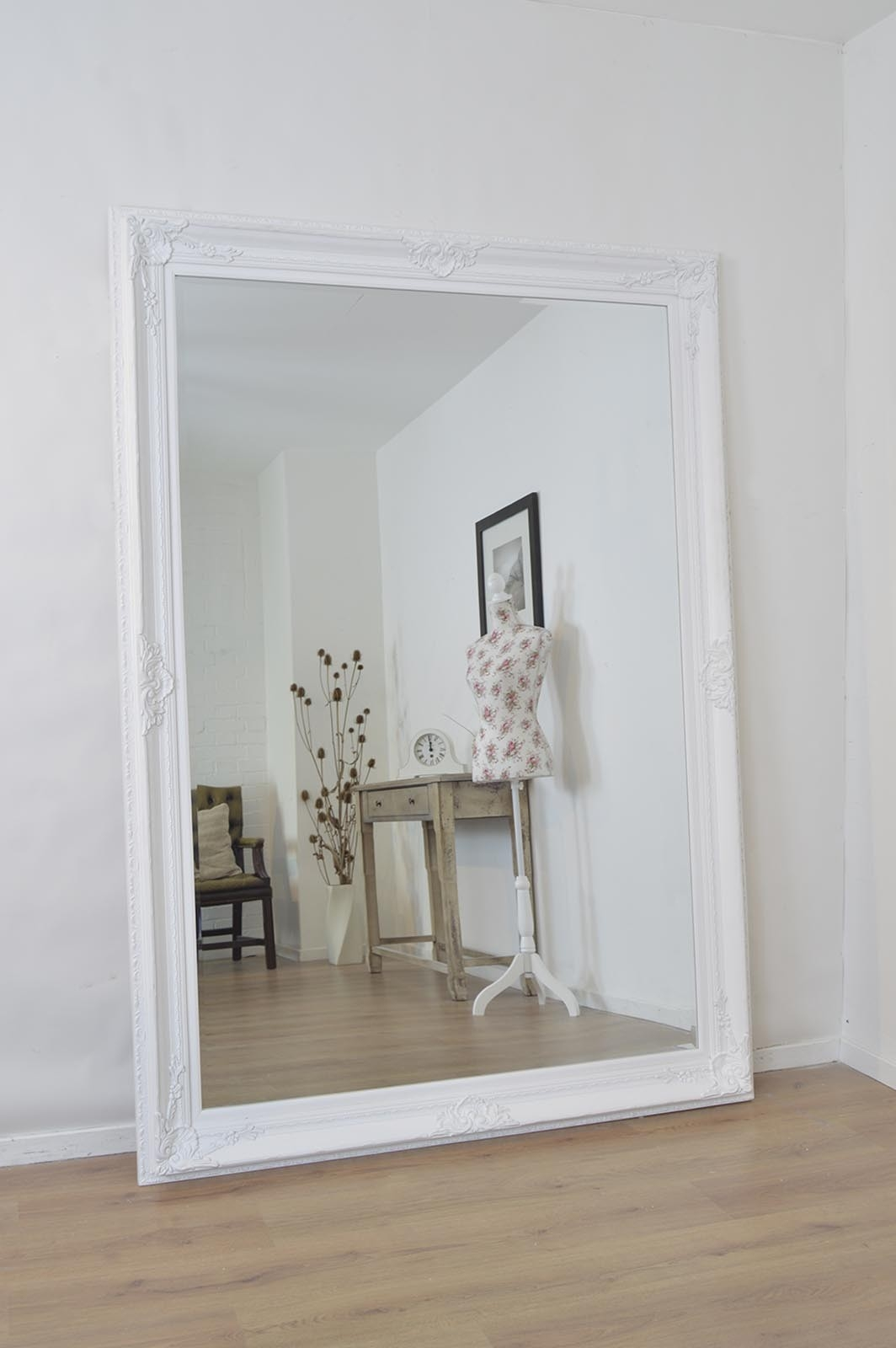 Innovative Ideas Large White Wall Mirror Extraordinary Large Cream With White Ornate Mirrors (Image 7 of 15)