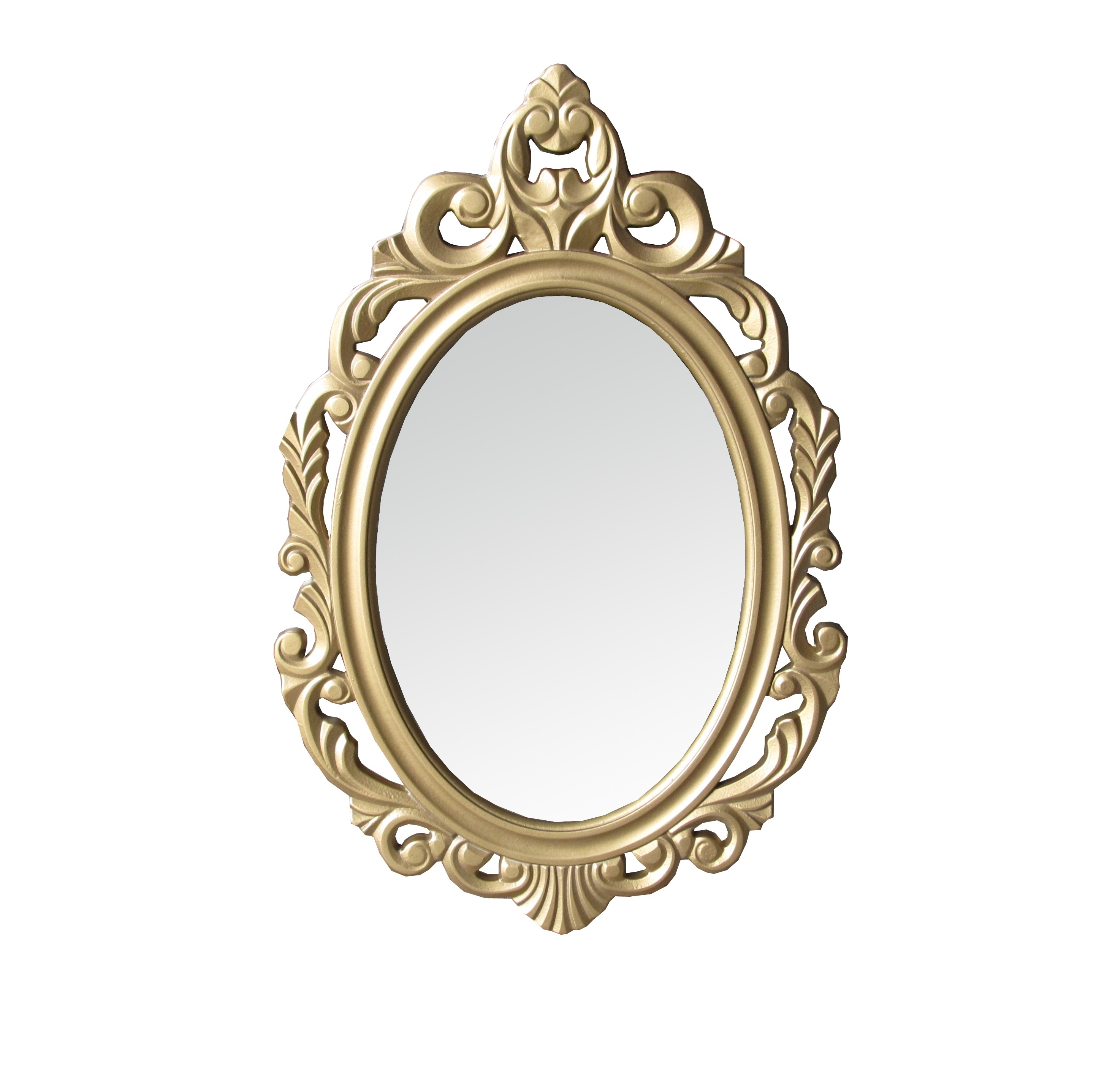Interior Decoration Shab Chic Ornate Gold Oval Wall Mirror With Regard To Gold Shabby Chic Mirror (View 13 of 15)