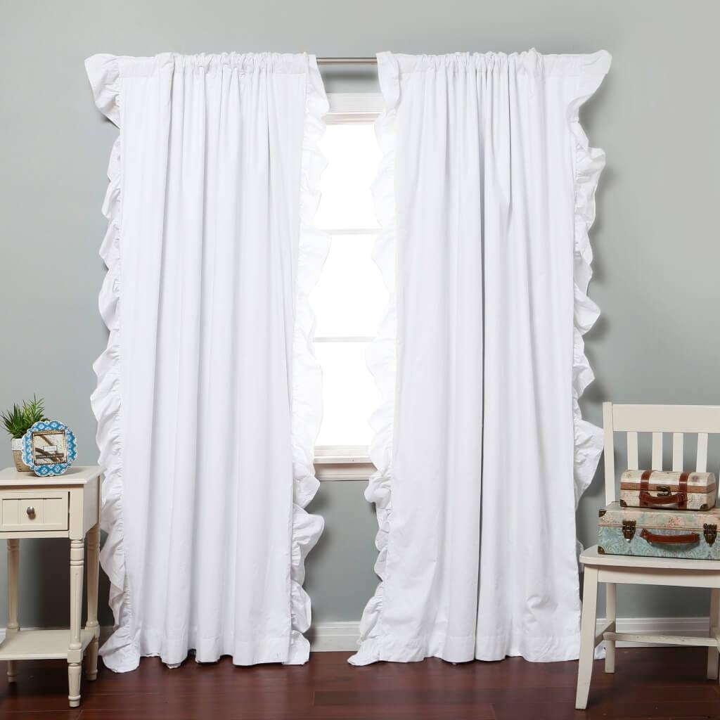 Interior Design Bedroom Blackout Curtains Best Blackout Curtain Throughout White Opaque Curtains (Image 8 of 15)
