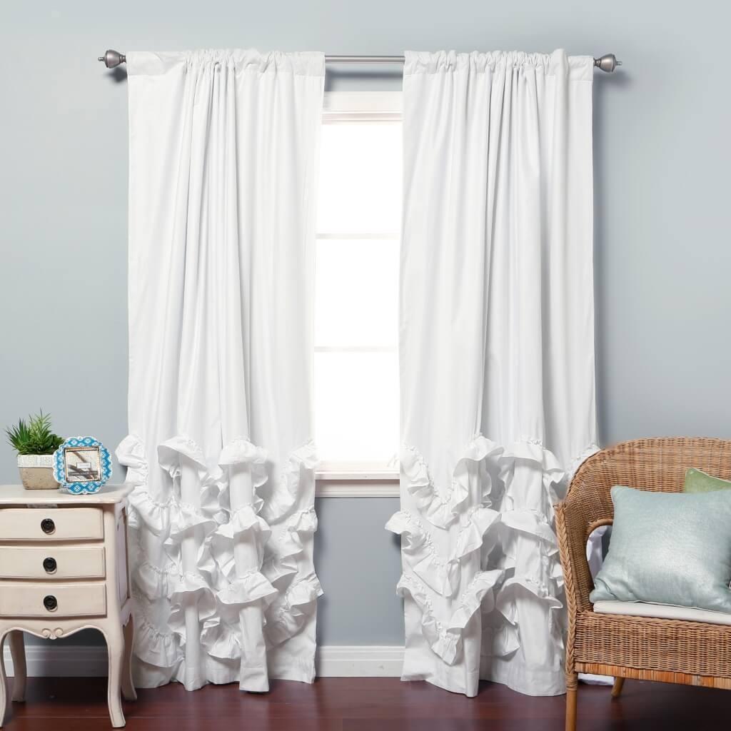 Interior Design Bedroom Blackout Curtains Best Blackout Curtain With White Opaque Curtains (Image 9 of 15)