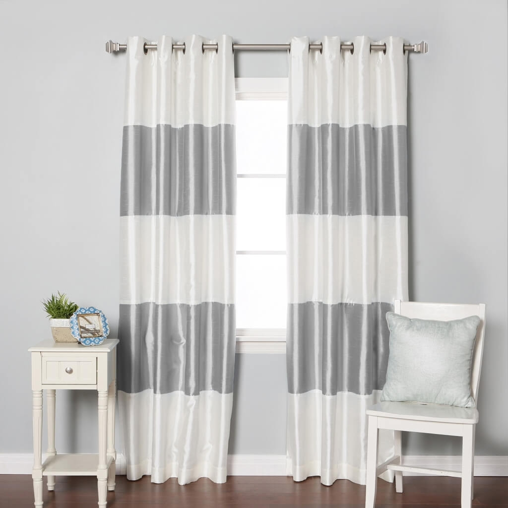 Interior Design Cheap Gray Blackout Curtain Pair Best Blackout Inside White Thermal Curtains (View 9 of 15)