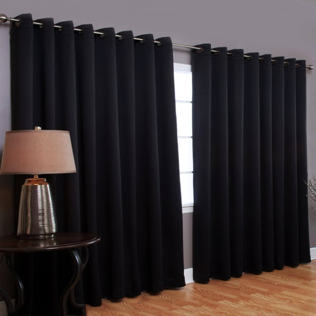 Interior Design Cheap Gray Blackout Curtain Pair Best Blackout Regarding Extra Long Blackout Curtains (Image 11 of 15)