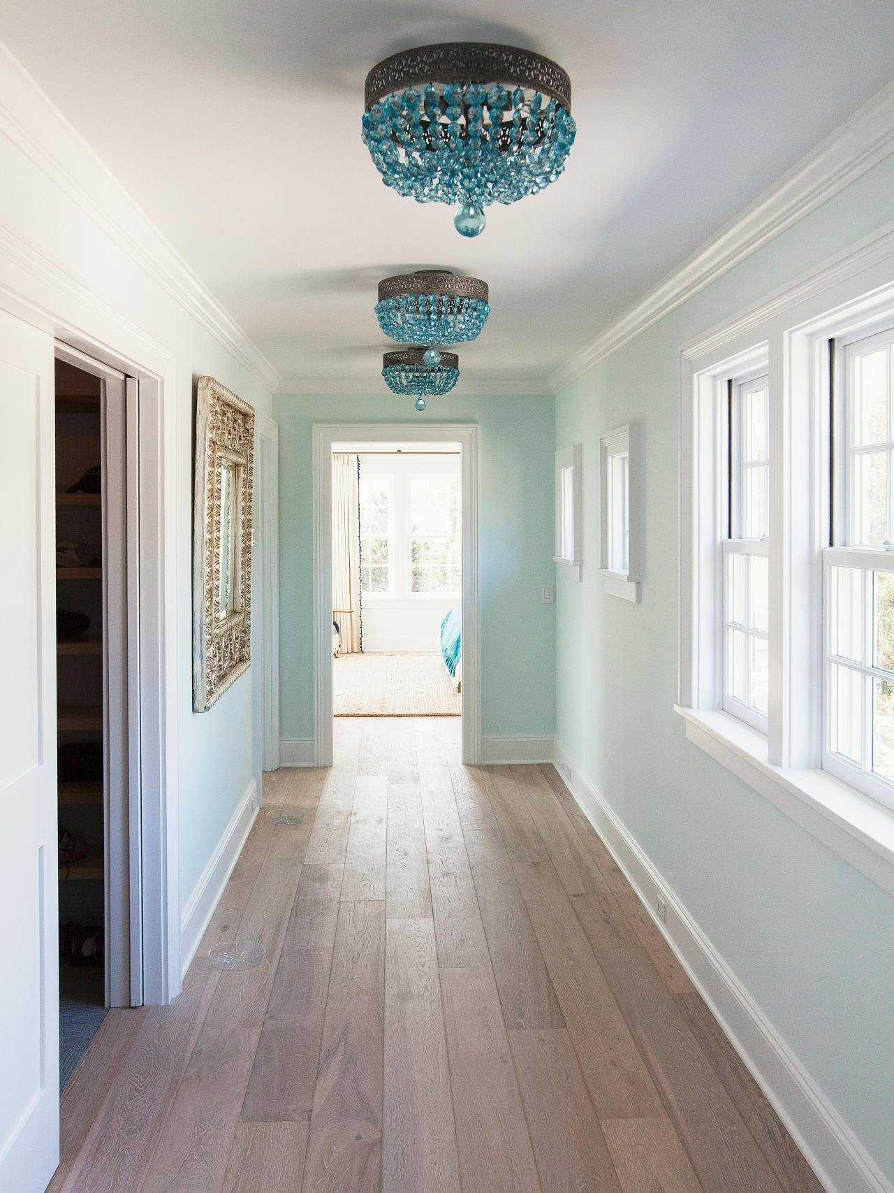 Interior Foyer Light With Black Copper Glass Lantern Chandelier Inside Chandeliers For Hallways (Image 13 of 15)
