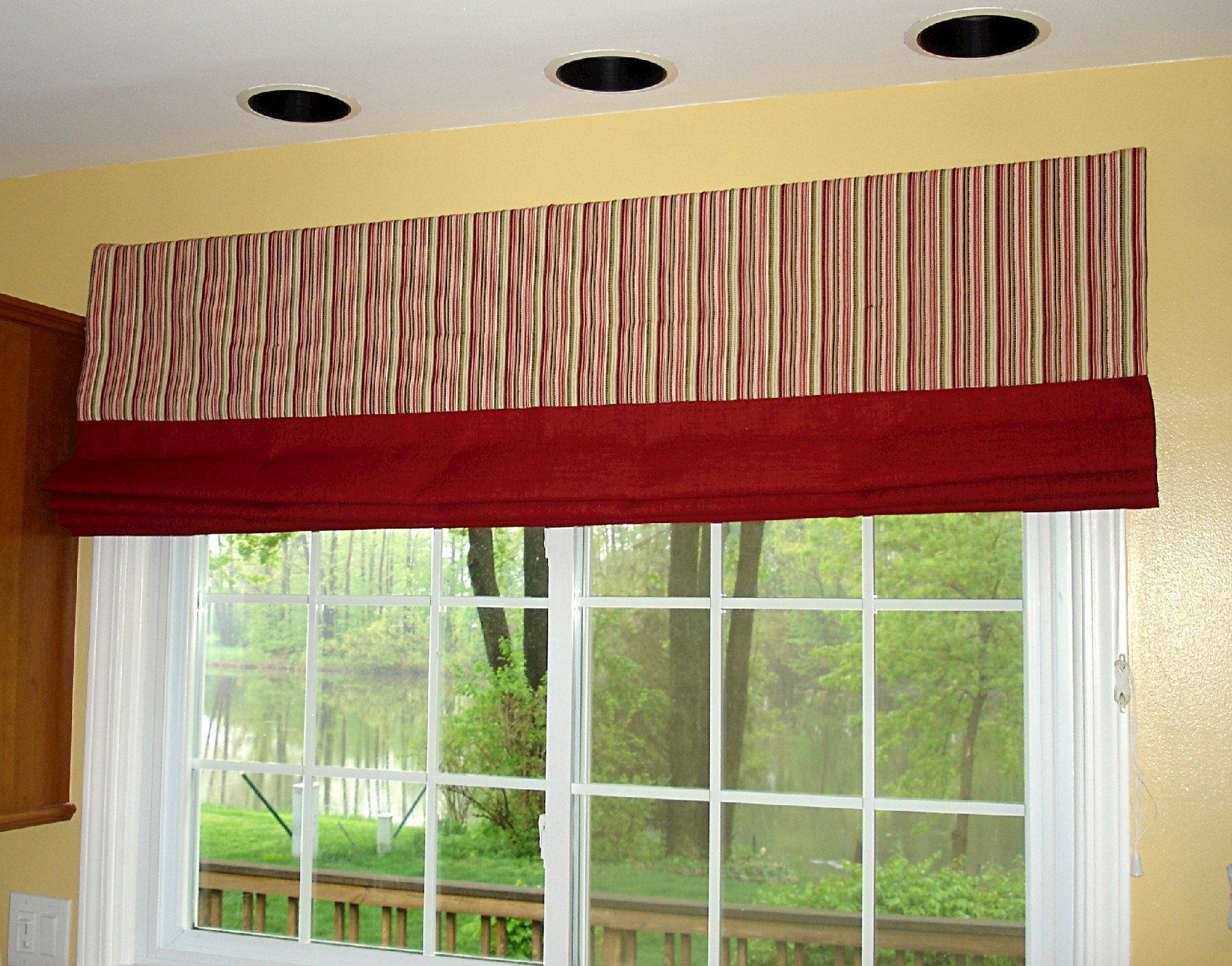 Interior White Fabric Door Curtain Connected Glass Doors With Inside Striped Door Curtain (Image 8 of 15)