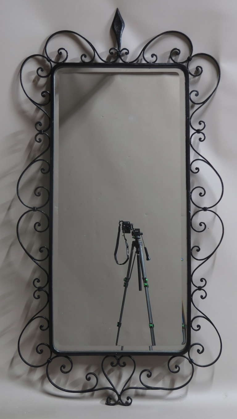 Featured Image of Black Wrought Iron Mirror