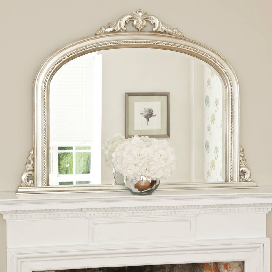 Isabella Overmantel Mirror Decorative Mirrors Online For Overmantel Mirror (Image 3 of 15)