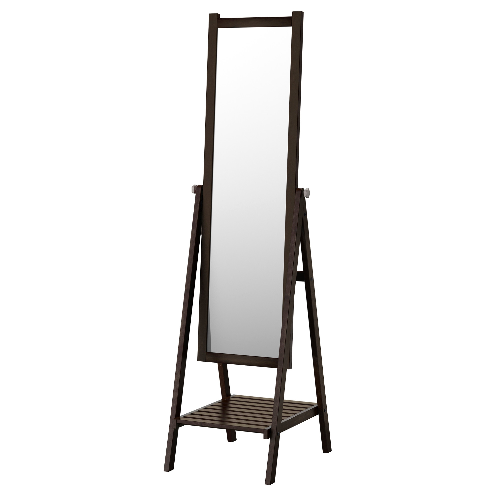 Isfjorden Floor Mirror Ikea In Black Free Standing Mirror (Image 10 of 15)