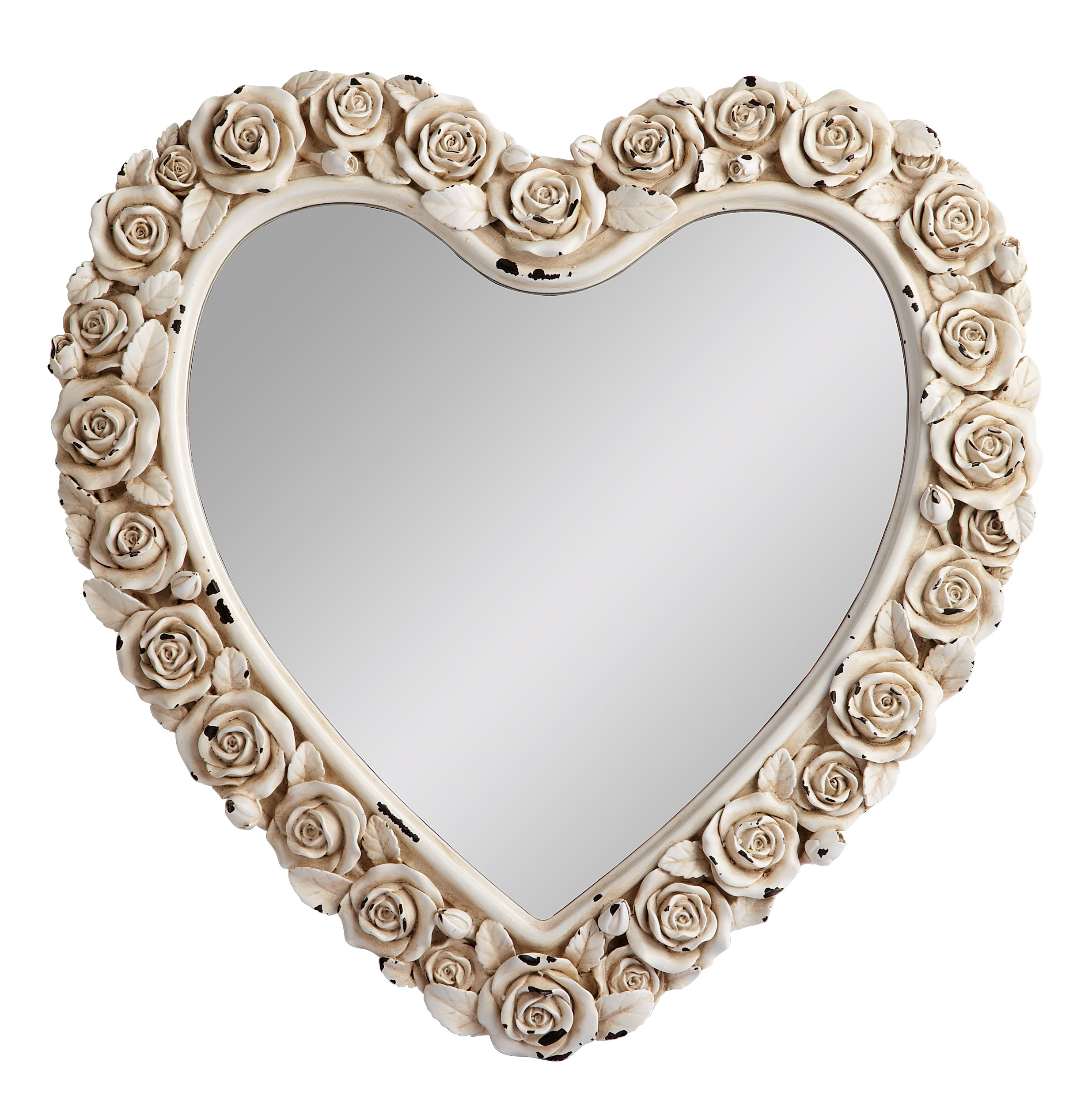 Isme Heart Mirror Romantic Trends Home Beautiful Floral For Large Heart Mirror (Image 5 of 15)