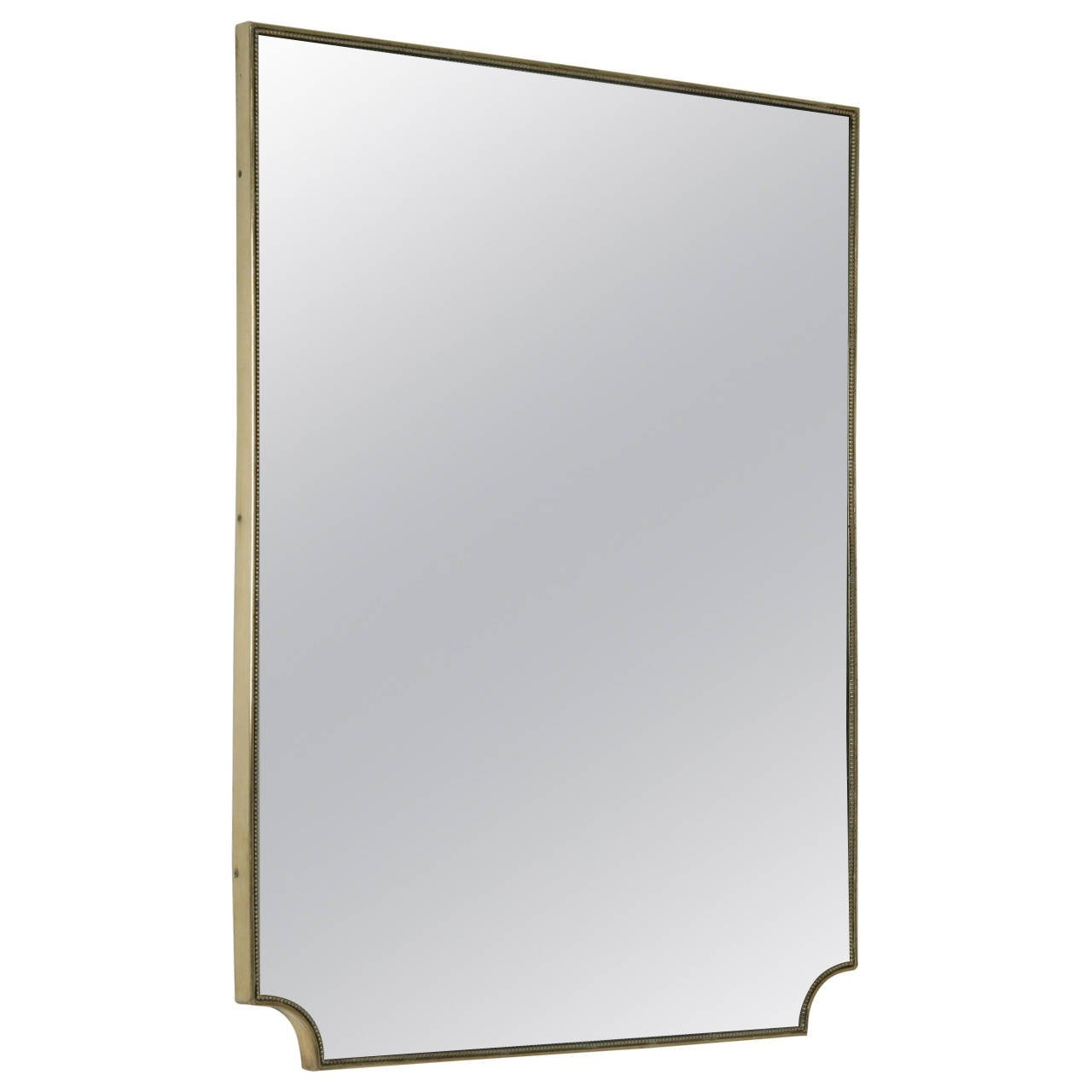 Italian 1950s Brass Framed Mirror For Sale At 1stdibs In Brass Mirrors For Sale (Image 6 of 15)