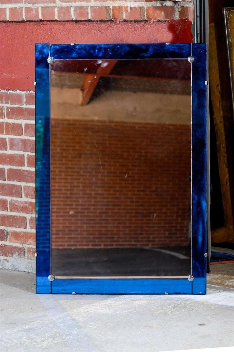 Featured Image of Mirror With Blue Frame