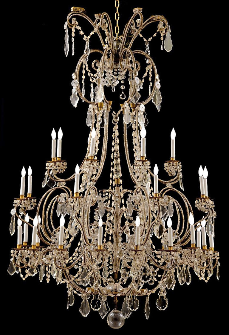 Italian Chandelier Baroque Home Ideas Design Intended For Baroque Chandelier (Image 10 of 15)