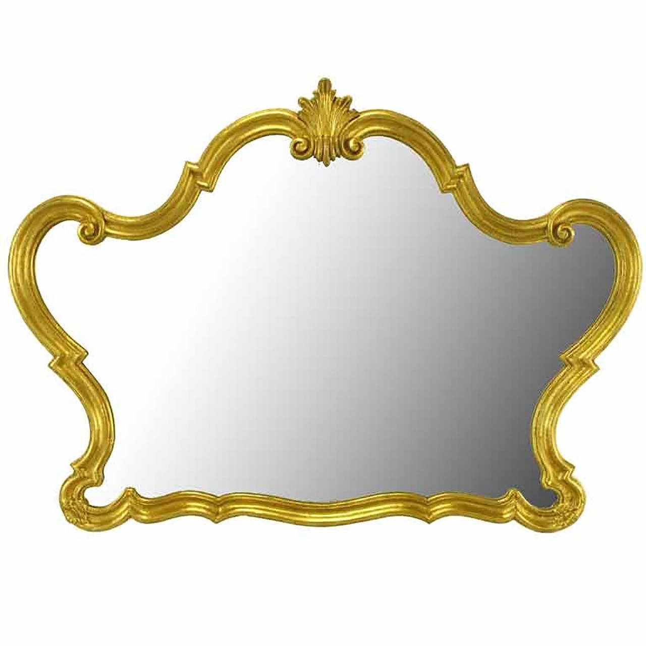 Italian Gilt Composite Wood And Gesso Rococo Wall Mirror Pertaining To Rococo Wall Mirror (Image 4 of 15)