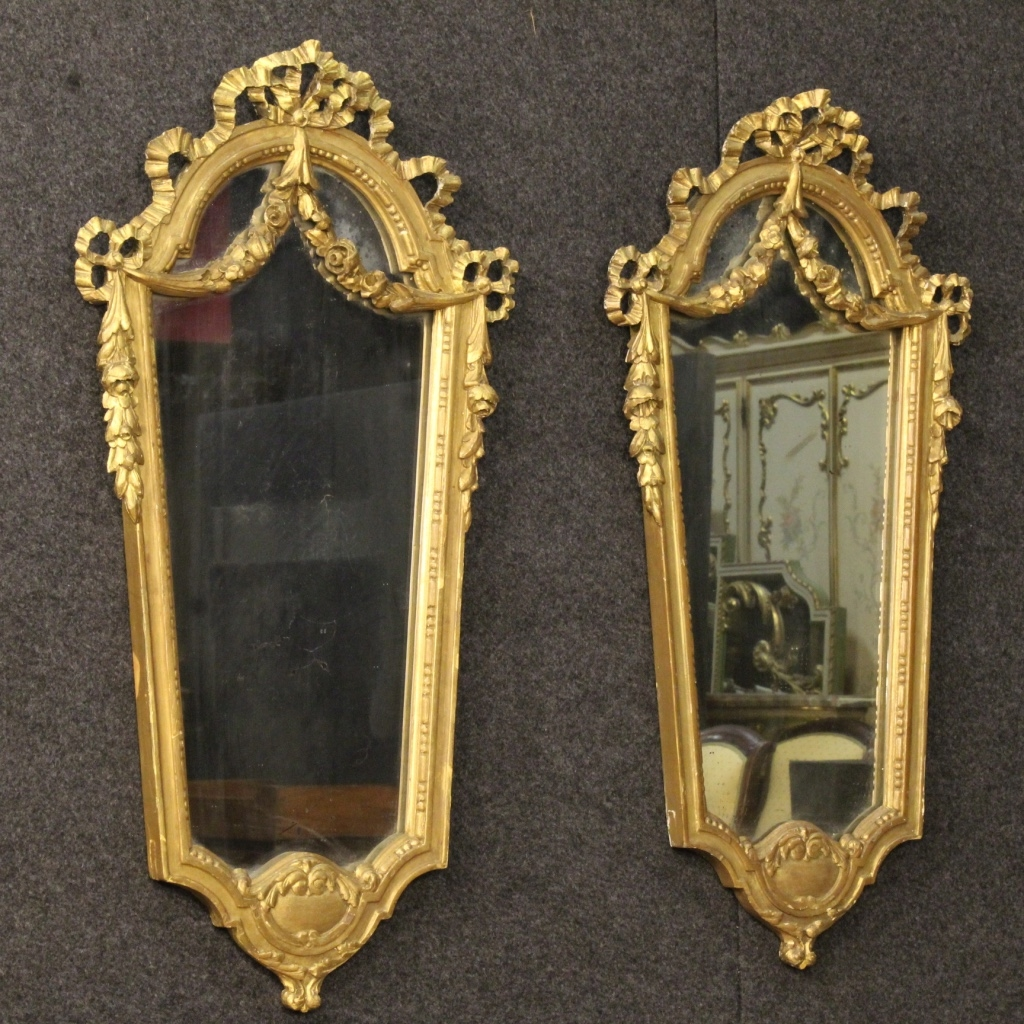 Italian Gilt Mirrors Set Of 2 For Sale At Pamono Within Gilt Mirrors (Image 8 of 15)