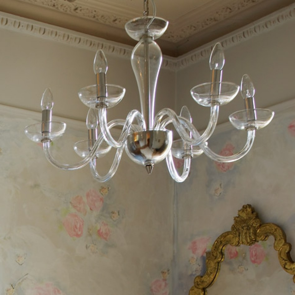 Italian Glass Chandelier Chandeliers Ceiling Lights Graham Regarding Glass Chandeliers (Image 9 of 15)