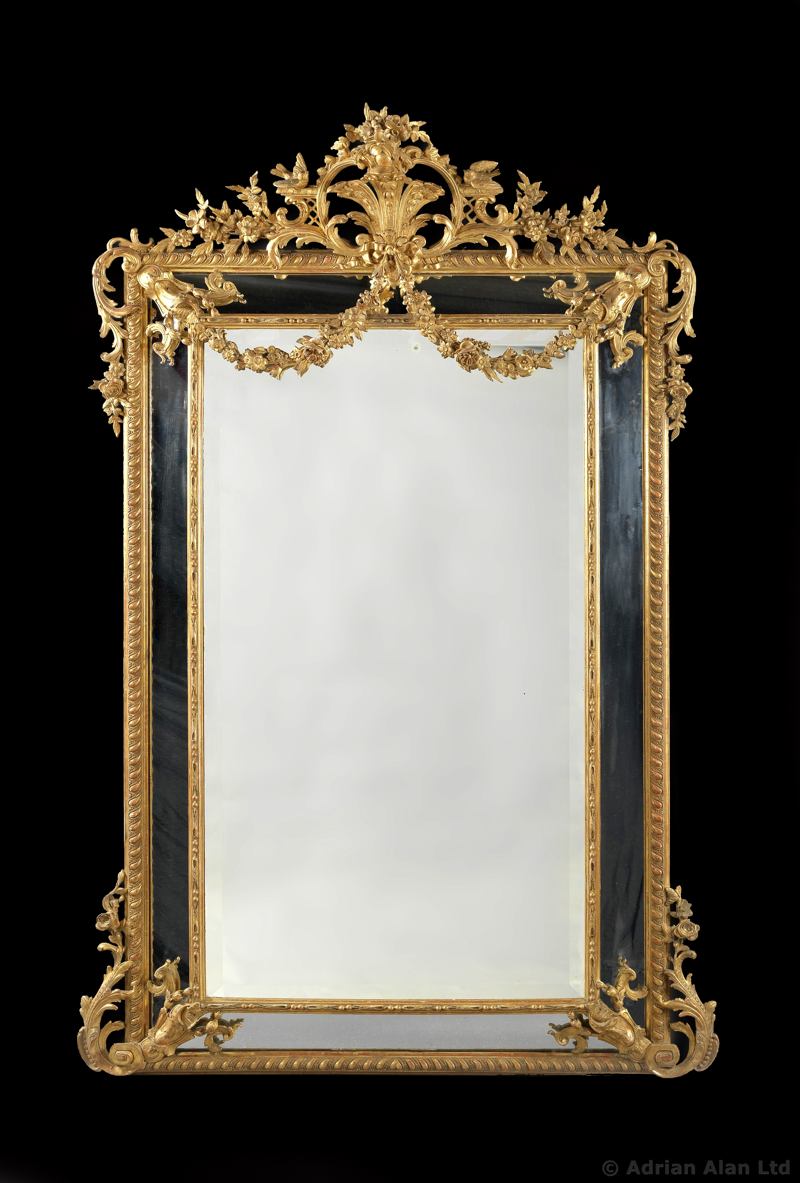 Italian Mirror 1680 Antique Rococo Mirror Very Rare 17th Century With Victorian Mirrors For Sale (Image 9 of 15)