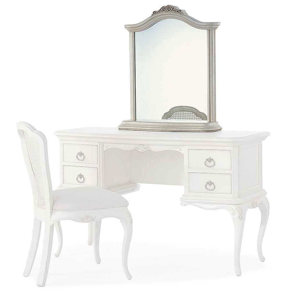 Ivory French Inspired Dressing Table Mirror French Carved Mirror For French Style Dressing Table Mirror (Image 11 of 15)