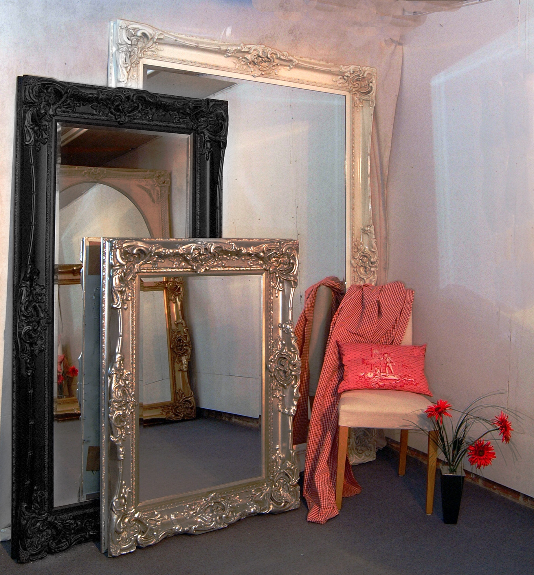 Ivory Mirrors Ornate Mirrors Large Mirrors Antique Regarding Reproduction Mirrors (View 4 of 15)