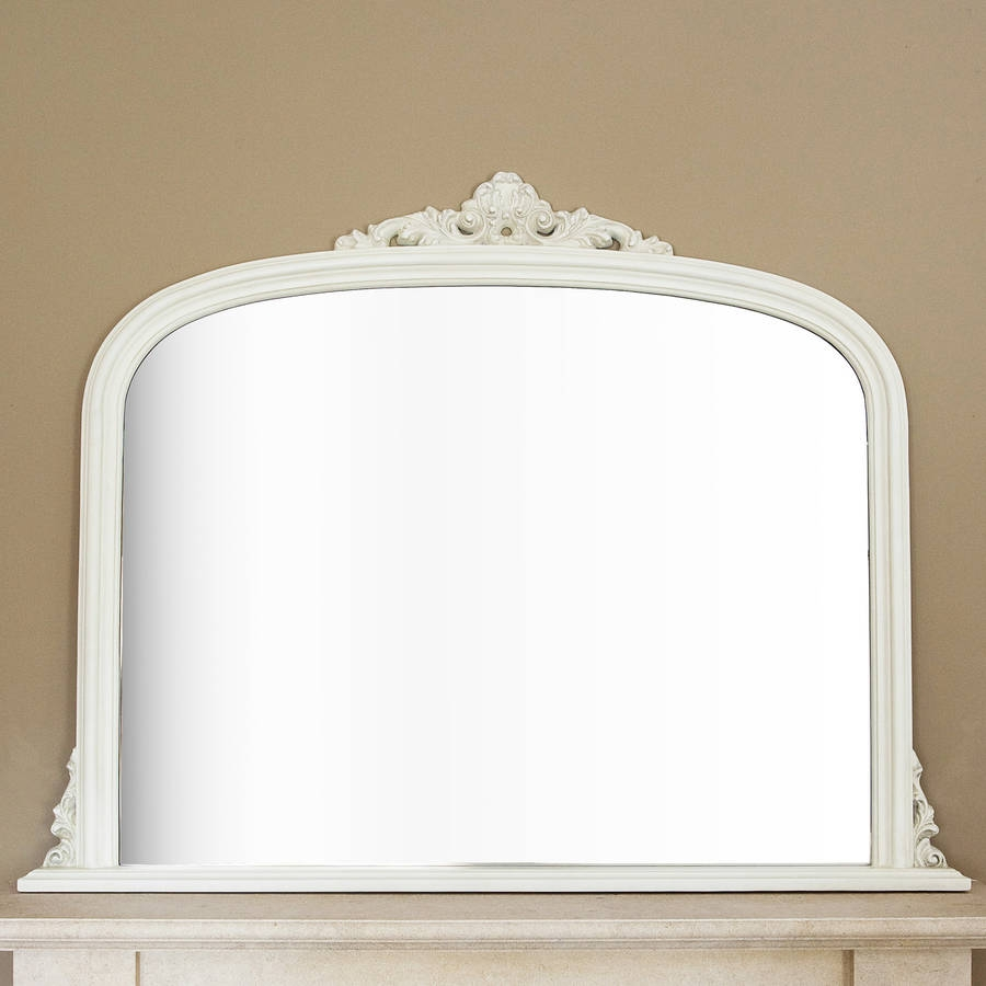 Ivory Overmantel Mirror Decorative Mirrors Online Pertaining To Over Mantle Mirror (Image 7 of 15)