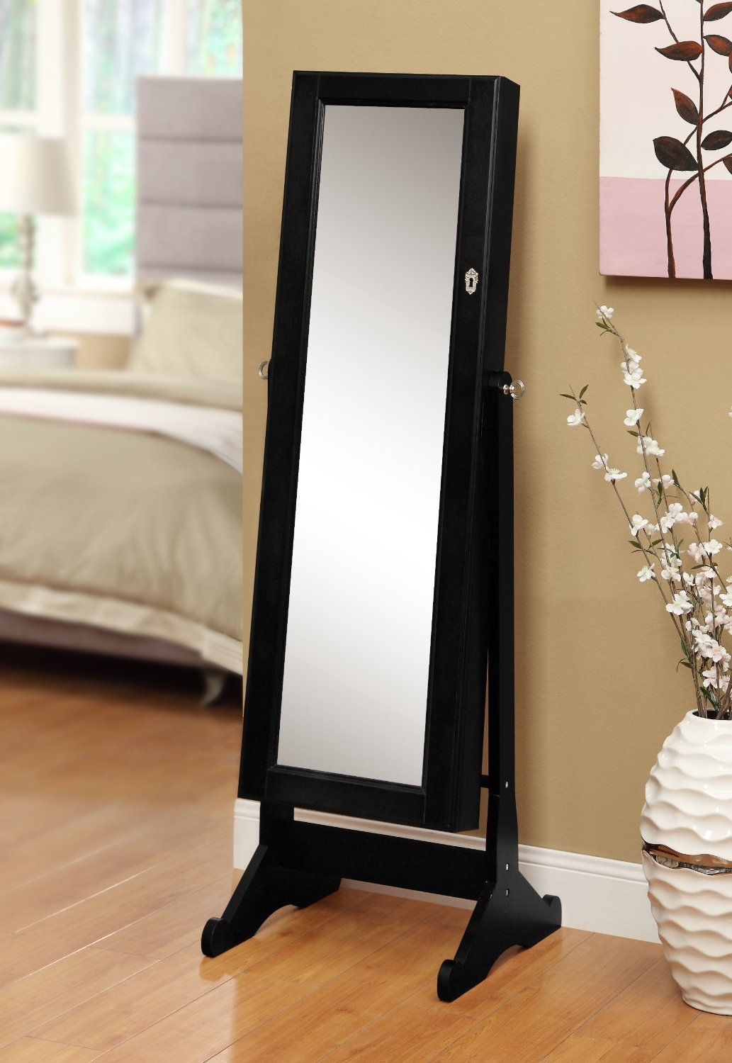 Jewelry Cabinet Mirror Free Standing Inspirations Home Furniture Pertaining To Free Standing Black Mirror (Image 10 of 15)