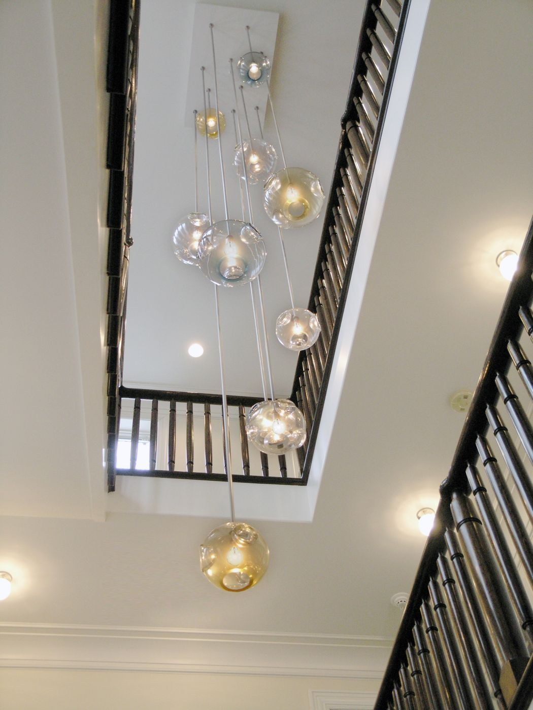 Jgooddesign Aqua Chandelier Pertaining To Stairwell Chandeliers (Image 7 of 15)