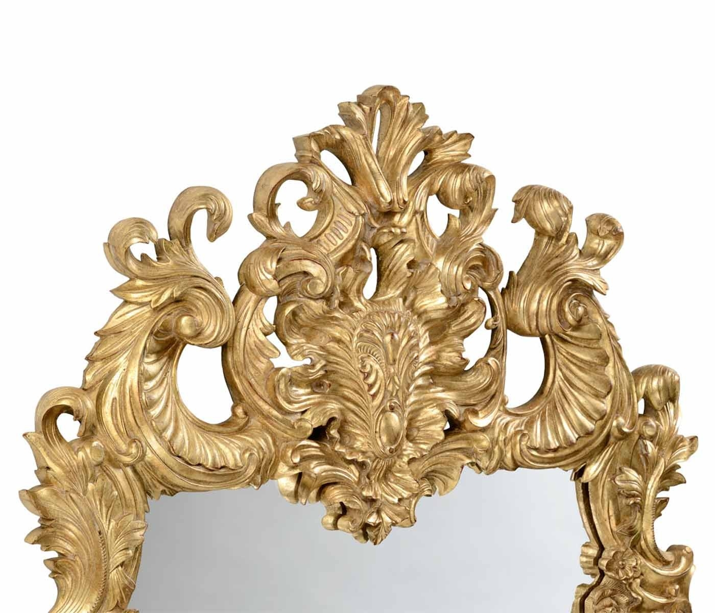 Jonathan Charles Finely Carved Gilded Rococo Style Mirror With Rococo Style Mirrors (Photo 6 of 15)