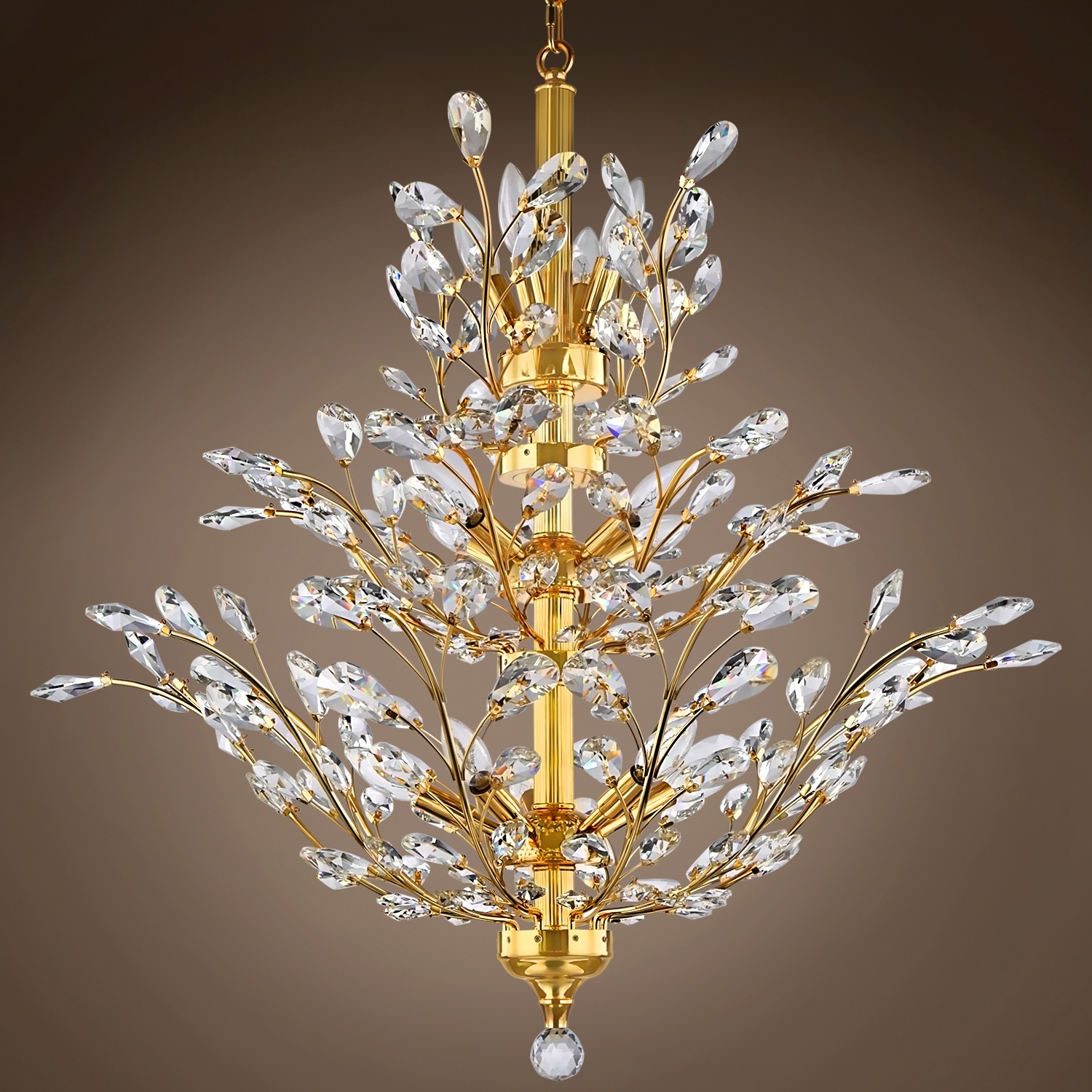 Joshua Marshal 700109 Branch Of Light 13 Light Chrome Chandelier Within Branch Crystal Chandelier (Image 12 of 15)