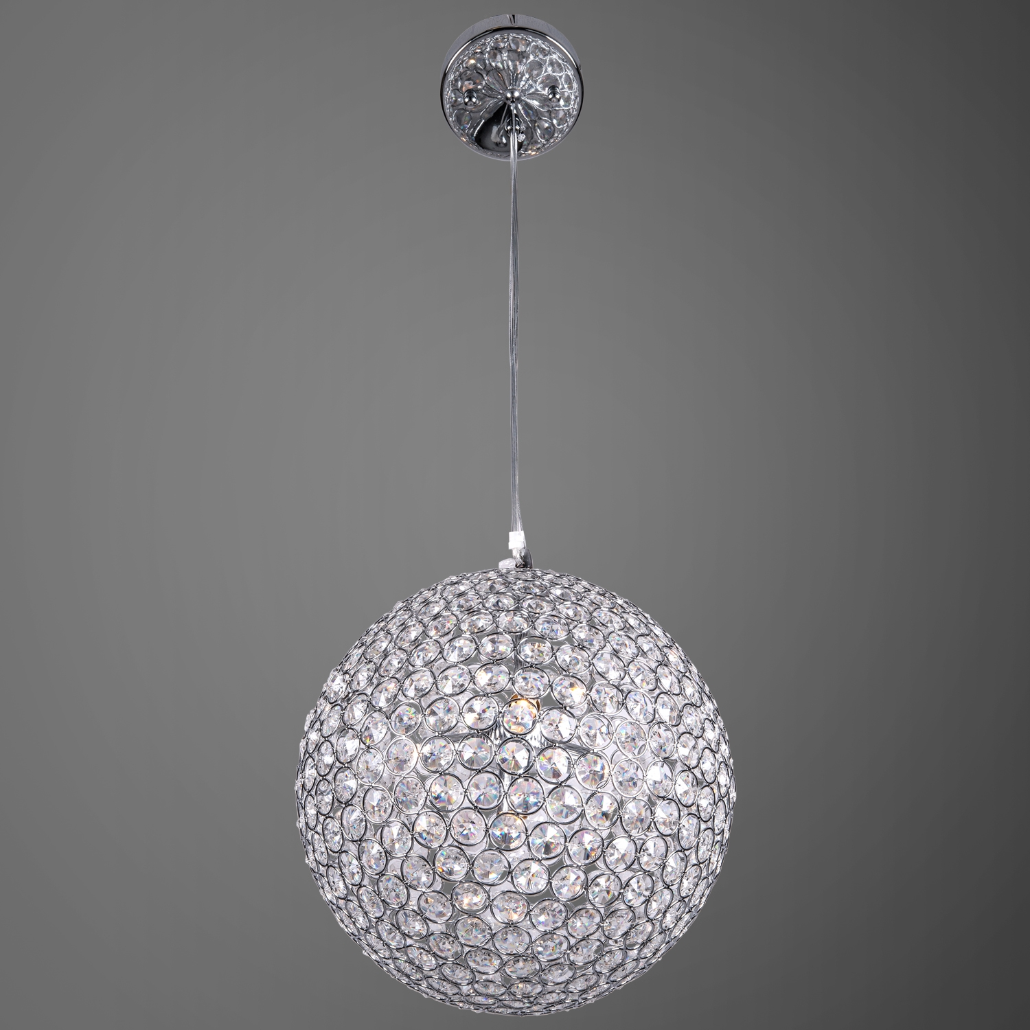 Joshua Marshal Limited Edition 4 Light 11 Crystal Globe Hanging In Crystal Globe Chandelier (Photo 8 of 15)
