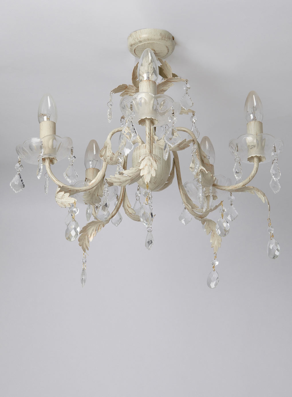 Juliette 5 Light Flush Fitting Chandelier Ceiling Lights Home Within Flush Fitting Chandeliers (Image 11 of 15)