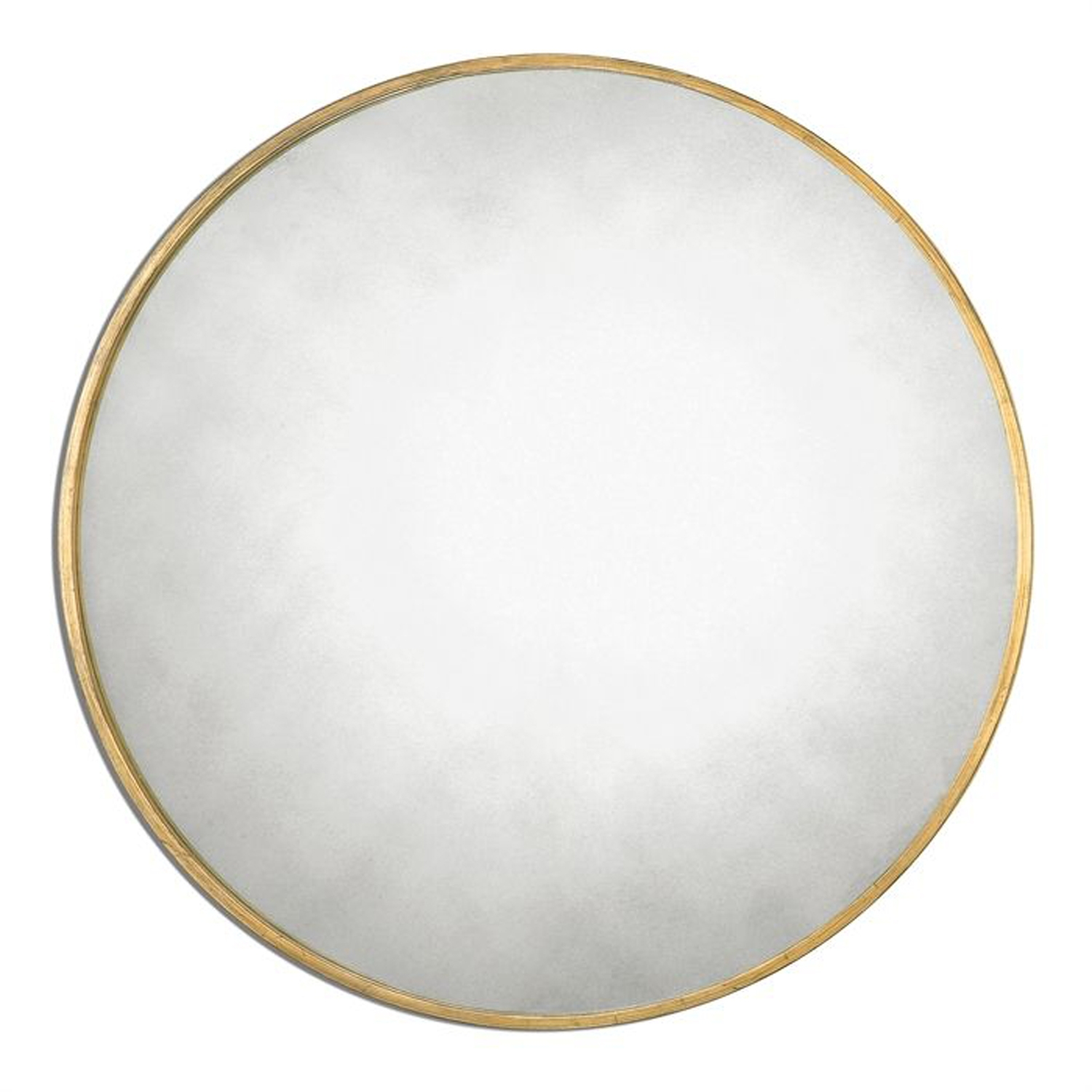 Junius Round Gold Round Mirror Uttermost Round Mirrors Home Decor Throughout Round Antique Mirrors (Image 7 of 15)