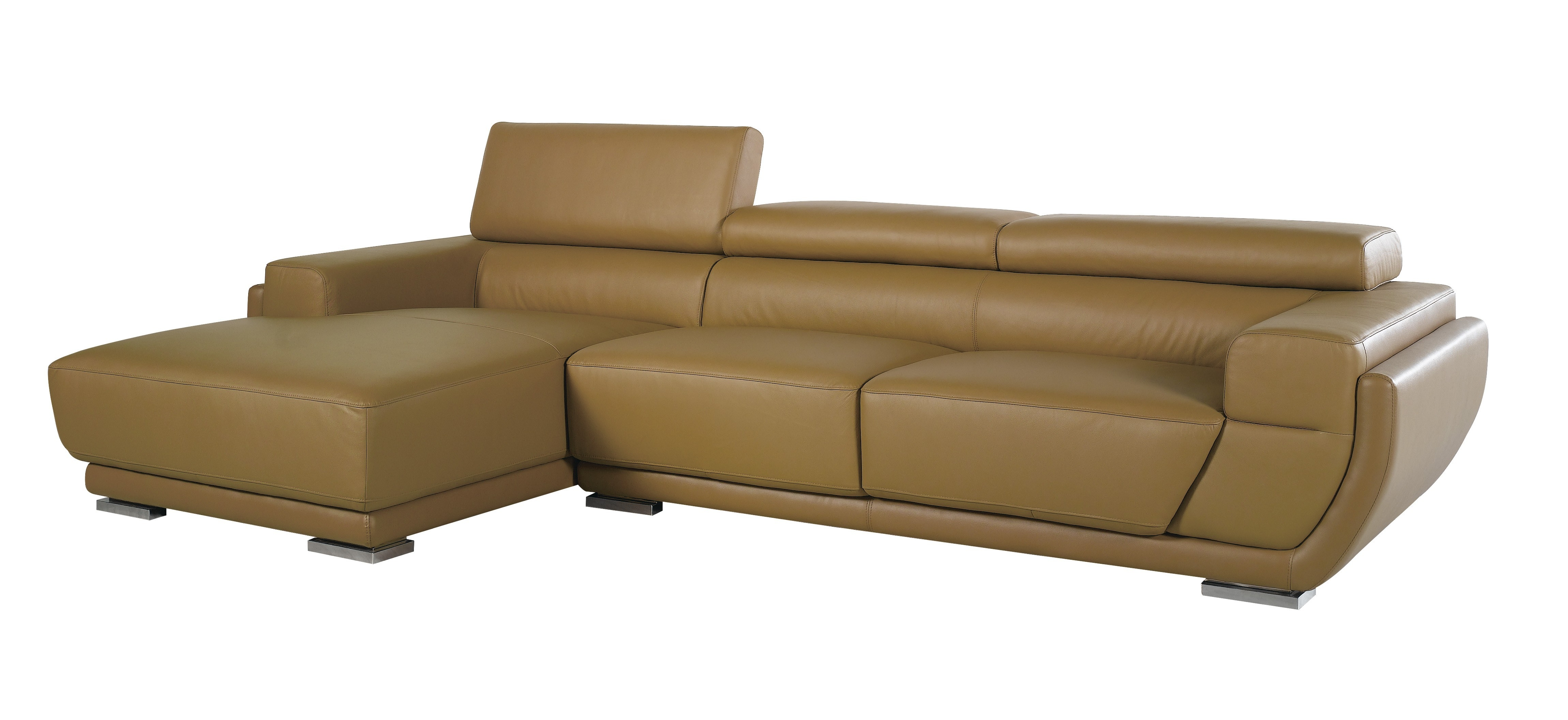 K8300 Modern Camel Italian Leather Sectional Sofa For Camel Sectional Sofa (View 14 of 15)