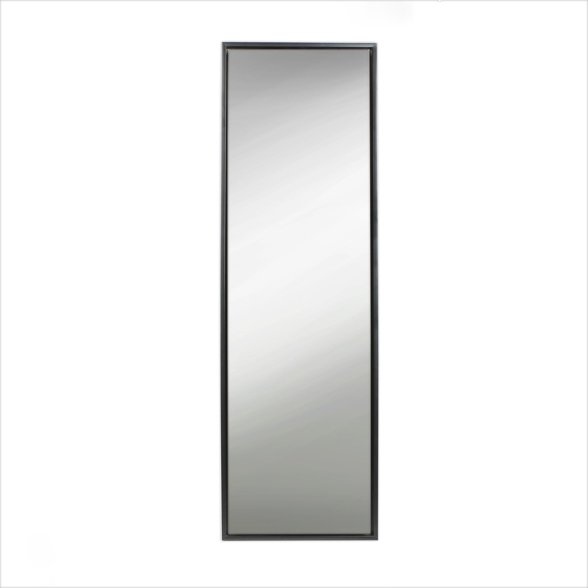 Kate And Laurel Evans Wood Framed Free Standing Mirror Reviews Inside Black Free Standing Mirror (Image 11 of 15)