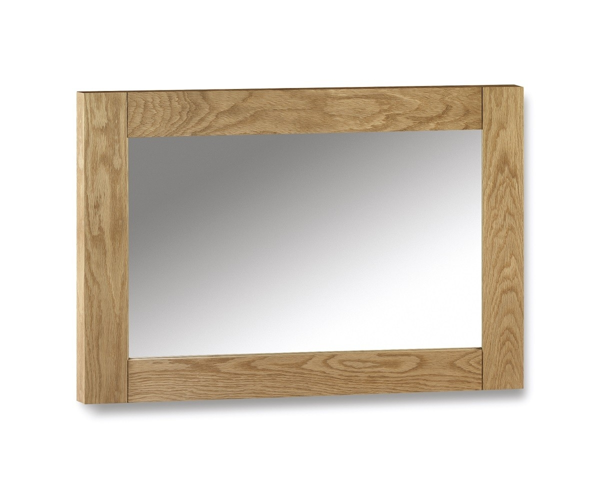 Kent Oak Wall Mirror Oak Furniture Uk Inside Oak Wall Mirrors (Image 5 of 15)