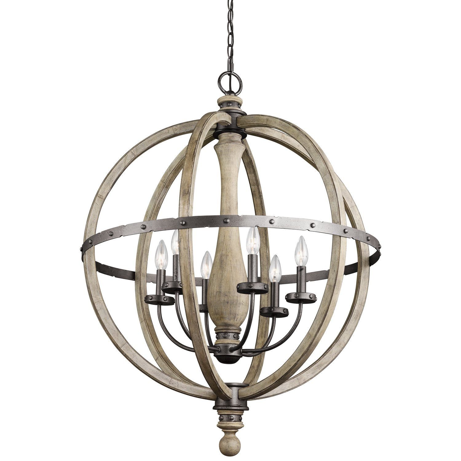 Kichler Evan 6 Light Globe Pendant Reviews Wayfair With Chandelier Globe (Image 10 of 15)