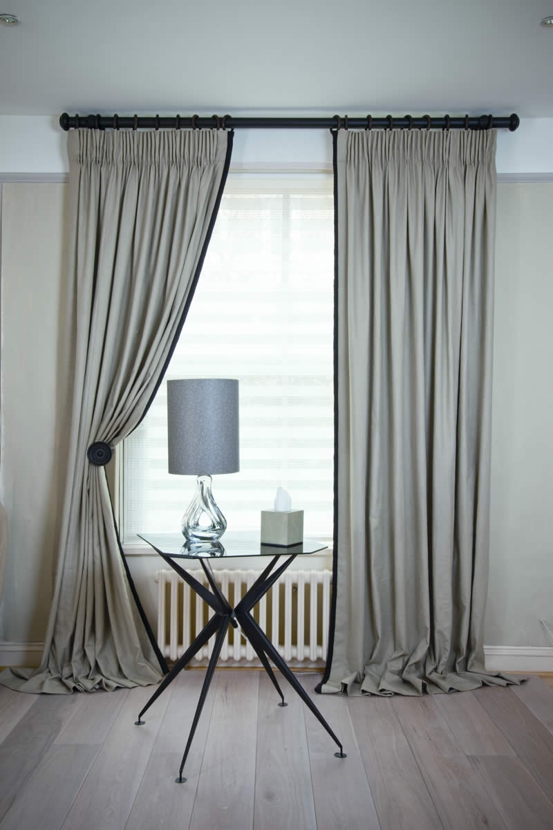 Kildare Linen Curtains With King Pleat And Jumbo Piping In Linen Luxury Curtains (Image 5 of 15)