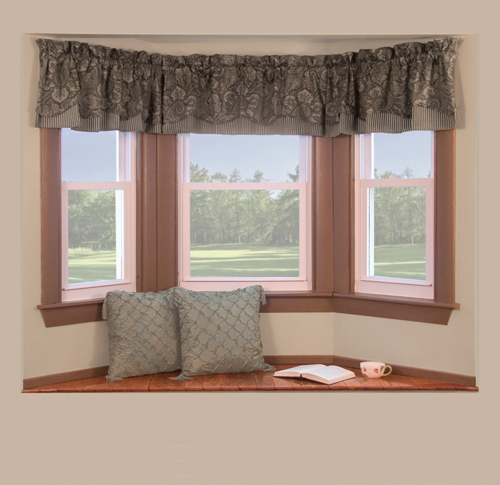 Kitchen Bay Windows Curtains Window Ideas Purple Eiforces Pertaining To Bay Windows Curtains (Image 11 of 15)