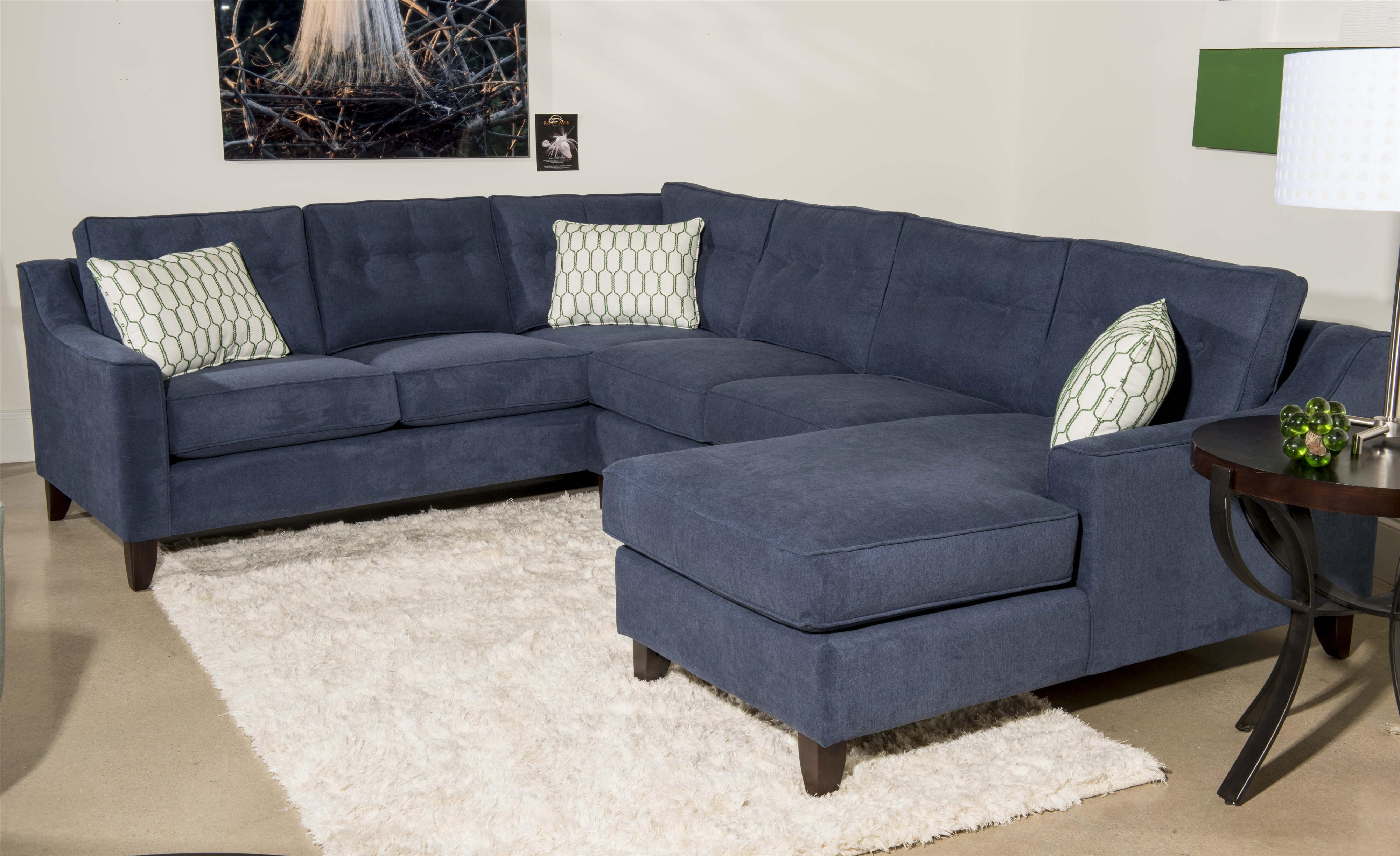 Klaussner Audrina Contemporary 3 Piece Sectional Sofa With Chaise Inside 3 Piece Sectional Sofa Slipcovers (Image 9 of 15)