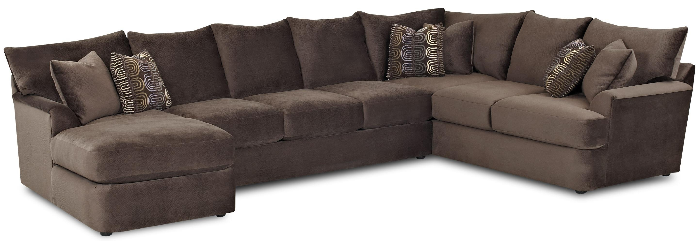 Klaussner Findley L Shaped Sectional Sofa With Left Chaise Value For C Shaped Sectional Sofa (Image 10 of 15)